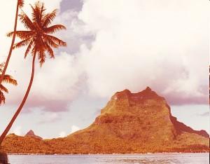 Bora Bora Lagoon and Mountain